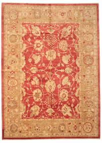 Usak Dywan 281X388 Orientalny Tkany Ręcznie Jasnobrązowy/Czerwony Duży (Wełna, Turcja)