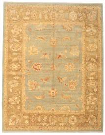 Usak Dywan 308X393 Orientalny Tkany Ręcznie Ciemnobeżowy/Jasnobrązowy Duży (Wełna, Turcja)
