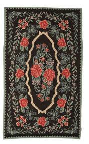 Kilim Rose Moldavia Dywan 154X258 Orientalny Tkany Ręcznie Ciemnobrązowy/Ciemnoszary (Wełna, Mołdawia)