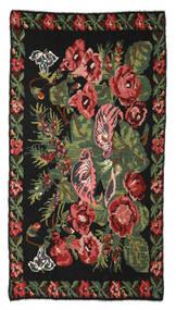 Kilim Rose Moldavia Dywan 170X310 Orientalny Tkany Ręcznie Czarny/Ciemnoczerwony (Wełna, Mołdawia)