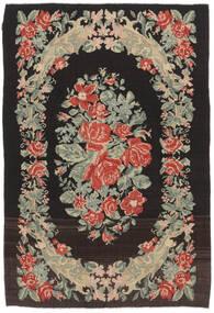 Kilim Rose Moldavia Dywan 169X252 Orientalny Tkany Ręcznie Czarny/Ciemnobeżowy (Wełna, Mołdawia)