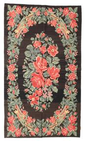 Kilim Rose Moldavia Dywan 151X261 Orientalny Tkany Ręcznie Ciemnoszary/Jasnozielony (Wełna, Mołdawia)