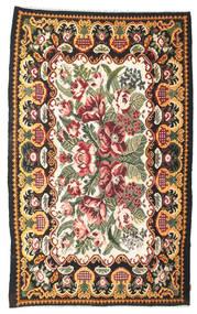 Kilim Rose Moldavia Dywan 189X307 Orientalny Tkany Ręcznie Ciemnoszary (Wełna, Mołdawia)