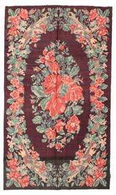 Kilim Rose Moldavia Dywan 164X280 Orientalny Tkany Ręcznie Ciemnobrązowy/Ciemnofioletowy (Wełna, Mołdawia)
