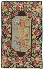 Kilim Rose Moldavia Dywan 178X295 Orientalny Tkany Ręcznie Ciemnoszary/Ciemnobeżowy (Wełna, Mołdawia)