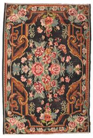 Kilim Rose Moldavia Dywan 184X277 Orientalny Tkany Ręcznie Czarny/Ciemnoszary (Wełna, Mołdawia)