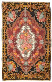 Kilim Rose Moldavia Dywan 219X351 Orientalny Tkany Ręcznie Ciemnobrązowy/Brązowy (Wełna, Mołdawia)