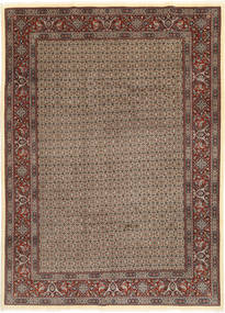 Moud Sherkat Farsh Dywan 203X283 Orientalny Tkany Ręcznie Jasnoszary/Ciemnoczerwony (Wełna/Jedwab, Persja/Iran)