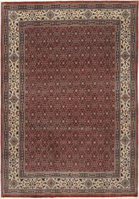Moud Sherkat Farsh Dywan 201X292 Orientalny Tkany Ręcznie Ciemnoczerwony/Ciemnoszary (Wełna/Jedwab, Persja/Iran)