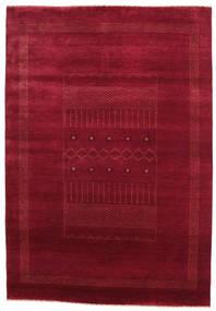 Gabbeh Loribaft Dywan 151X219 Nowoczesny Tkany Ręcznie Ciemnoczerwony/Czerwony (Wełna, Indie)