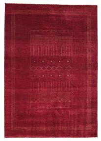 Gabbeh Loribaft Dywan 150X223 Nowoczesny Tkany Ręcznie Ciemnoczerwony/Czerwony (Wełna, Indie)