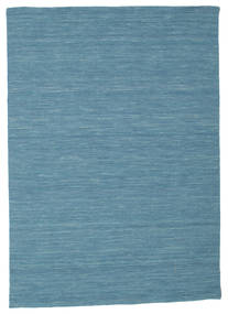 Kilim Loom - Niebieski Dywan 140X200 Nowoczesny Tkany Ręcznie Turkusowy Niebieski/Niebieski (Wełna, Indie)