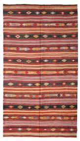Kilim Pół -Antyk Tureckie Dywan 180X322 Orientalny Tkany Ręcznie Ciemnoczerwony/Rdzawy/Czerwony (Wełna, Turcja)