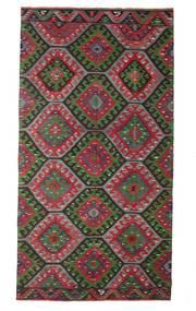 Kilim Pół -Antyk Tureckie Dywan 174X327 Orientalny Tkany Ręcznie Ciemnobrązowy/Czarny (Wełna, Turcja)