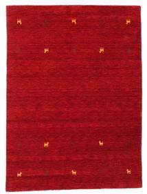 Gabbeh Loom Two Lines - Czerwony Dywan 140X200 Nowoczesny Czerwony/Ciemnoczerwony (Wełna, Indie)