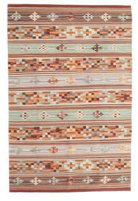 Kilim Anatolian Dywan 100X160 Nowoczesny Tkany Ręcznie Ciemnoczerwony/Jasnoszary (Wełna, Indie)