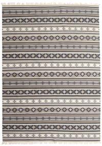 Kilim Cizre Dywan 240X340 Nowoczesny Tkany Ręcznie Jasnoszary/Beżowy (Wełna, Indie)