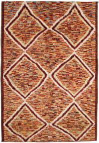 Barchi/Moroccan Berber Dywan 197X292 Nowoczesny Tkany Ręcznie Ciemnoczerwony/Czerwony (Wełna, Afganistan)