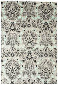 Lennox Dywan 190X290 Nowoczesny Tkany Ręcznie Jasnoszary/Biały/Creme (Jedwab, Indie)