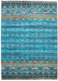 Quito - Turkusowy Dywan 240X340 Nowoczesny Tkany Ręcznie Turkusowy Niebieski/Jasnoszary (Jedwab, Indie)