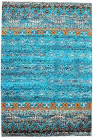 Quito - Turkusowy Dywan 190X290 Nowoczesny Tkany Ręcznie Turkusowy Niebieski/Niebieski (Jedwab, Indie)
