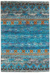 Quito - Turkusowy Dywan 160X230 Nowoczesny Tkany Ręcznie Turkusowy Niebieski/Ciemnoszary (Jedwab, Indie)