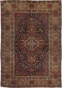 Isfahan Antyk Dywan 147X215 Orientalny Tkany Ręcznie Ciemnoczerwony/Ciemnobrązowy (Wełna, Persja/Iran)