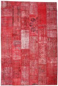 Patchwork Dywan 201X296 Nowoczesny Tkany Ręcznie Czerwony/Rdzawy/Czerwony (Wełna, Turcja)
