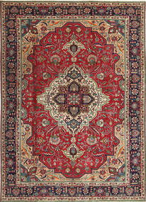 Tebriz Patina Dywan 203X288 Orientalny Tkany Ręcznie Ciemnoczerwony/Ciemnobrązowy (Wełna, Persja/Iran)