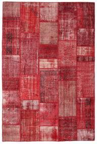 Patchwork Dywan 201X305 Nowoczesny Tkany Ręcznie Czerwony/Rdzawy/Czerwony (Wełna, Turcja)