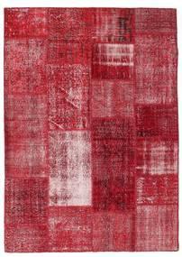 Patchwork Dywan 163X229 Nowoczesny Tkany Ręcznie Czerwony/Ciemnoczerwony (Wełna, Turcja)