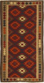 Kilim Maimane Dywan 97X198 Orientalny Tkany Ręcznie Ciemnobrązowy/Ciemnoczerwony (Wełna, Afganistan)