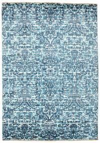 Damask Dywan 170X244 Nowoczesny Tkany Ręcznie Jasnoniebieski/Niebieski ( Indie)
