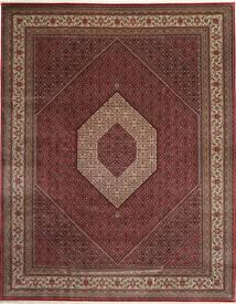 Bidżar Indie Dywan 303X392 Orientalny Tkany Ręcznie Ciemnoczerwony/Brązowy Duży (Wełna, Indie)