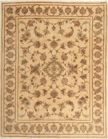 Jazd Dywan 193X245 Orientalny Tkany Ręcznie Ciemnobeżowy/Jasnobrązowy (Wełna, Persja/Iran)