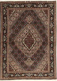 Tebriz 40 Raj Dywan 107X149 Orientalny Tkany Ręcznie Ciemnoczerwony/Ciemnobrązowy (Wełna/Jedwab, Persja/Iran)
