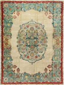 Tebriz Patina Dywan 300X400 Orientalny Tkany Ręcznie Ciemnobeżowy/Pastel Zielony Duży (Wełna, Persja/Iran)