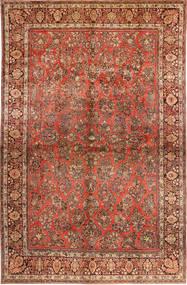 Saruk American Dywan 310X485 Orientalny Tkany Ręcznie Ciemnobrązowy/Rdzawy/Czerwony Duży (Wełna, Persja/Iran)