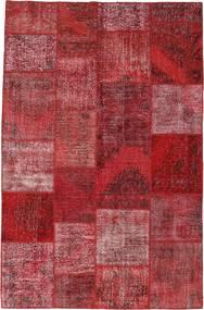 Patchwork Dywan 196X301 Nowoczesny Tkany Ręcznie Ciemnoczerwony/Fioletowy (Wełna, Turcja)