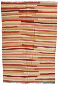 Kilim Dywan 137X204 Orientalny Tkany Ręcznie Jasnobrązowy/Czerwony (Wełna, Persja/Iran)
