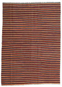 Kilim Dywan 172X240 Orientalny Tkany Ręcznie Ciemnoczerwony/Niebieski (Wełna, Persja/Iran)