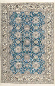 Nain 6La Habibian Dywan 210X323 Orientalny Tkany Ręcznie Jasnoszary/Ciemnobeżowy (Wełna/Jedwab, Persja/Iran)