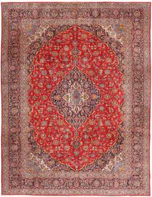 Keszan Dywan 315X420 Orientalny Tkany Ręcznie Ciemnoczerwony/Rdzawy/Czerwony Duży (Wełna, Persja/Iran)