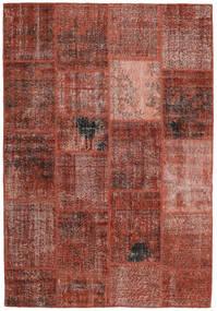 Patchwork Dywan 159X232 Nowoczesny Tkany Ręcznie Ciemnoczerwony/Jasnobrązowy (Wełna, Turcja)