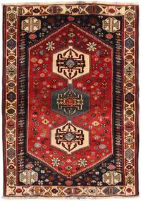 Kaszkaj Dywan 108X150 Orientalny Tkany Ręcznie Ciemnoczerwony/Czarny (Wełna, Persja/Iran)