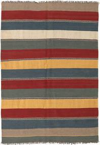 Kilim Dywan 135X197 Orientalny Tkany Ręcznie Ciemnoczerwony/Niebieski (Wełna, Persja/Iran)