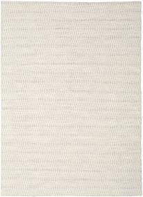 Kilim Long Stitch - Beżowy Dywan 210X290 Nowoczesny Tkany Ręcznie Jasnoszary/Beżowy (Wełna, Indie)