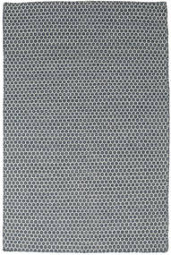 Kilim Honey Comb - Niebieski Dywan 120X180 Nowoczesny Tkany Ręcznie Niebieski/Ciemnoszary (Wełna, Indie)