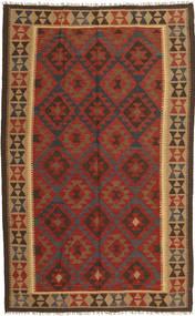 Kilim Maimane Dywan 154X249 Orientalny Tkany Ręcznie Ciemnoczerwony/Ciemnobrązowy (Wełna, Afganistan)