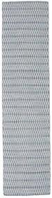 Kilim Long Stitch - Niebieski Dywan 80X340 Nowoczesny Tkany Ręcznie Chodnik Jasnoszary/Jasnoniebieski (Wełna, Indie)